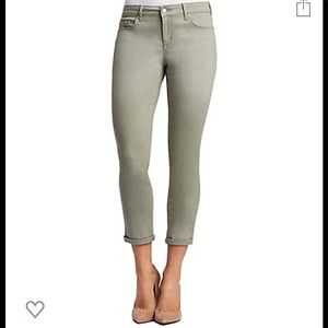 Jessica Simpson Rolled Crop Skinny in Meadow Green